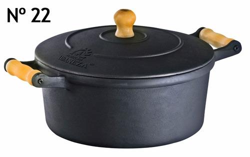 panela de ferro fundido nº 22  1,5 litros espessura grossa