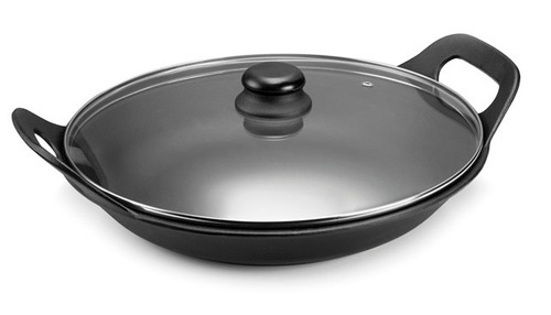 panela de ferro risoto com tampa de vidro 2,5l