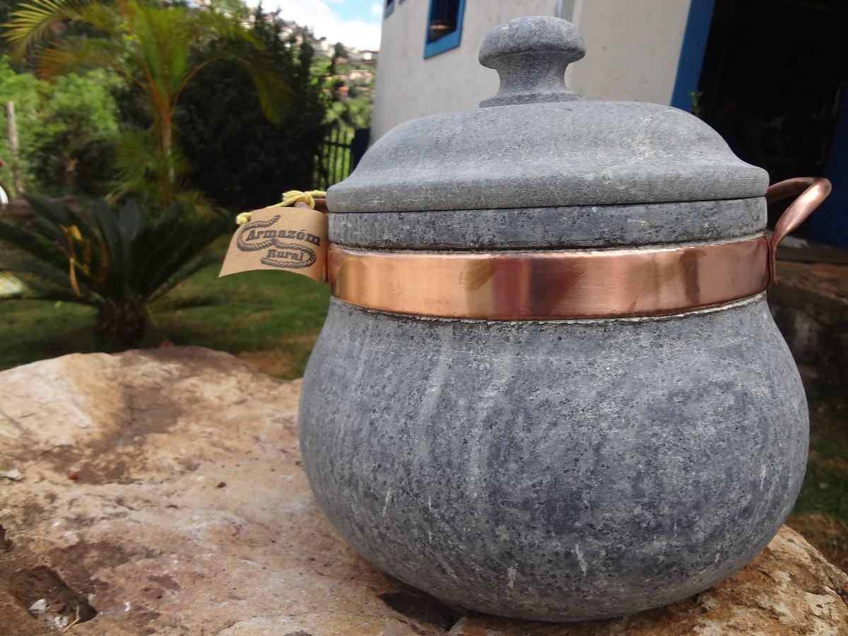 50c68c118 panela de pedra sabão modelo sopeira - 03 litros. Carregando zoom.