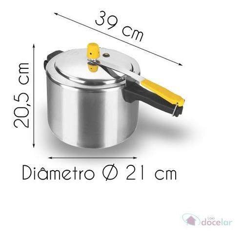 panela de pressao aluminio polido 4,5 litros