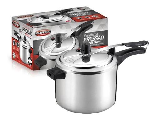 panela de pressão 4,5 litros alumínio polido 901 oliveira