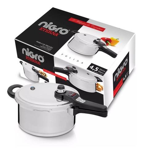 panela de pressão 4,5 litros eterna em geral cozinha - nigro