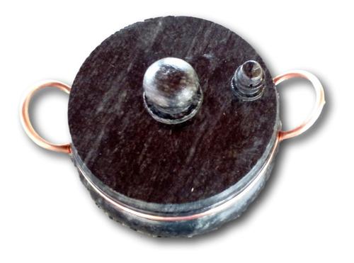 panela de pressão 4,5l, alça de cobre, curada