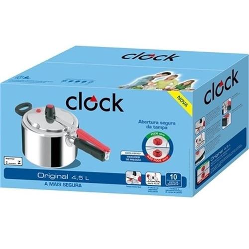 panela de pressão clock original polida 4,5 l  nova!!!