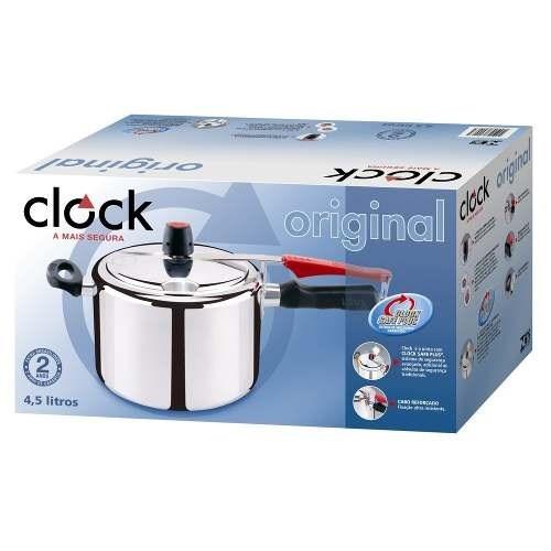 4e4ad3e29 Panela De Pressão Clock Original Polida 4