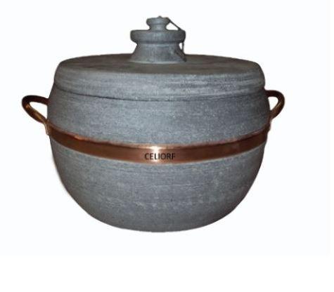 panela de pressão em pedra-sabão 8 litros