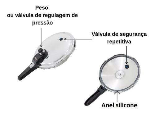 panela de pressão eterna nigro 6 lts + kit reposiçao nigro