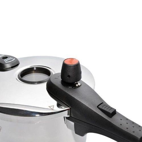 panela de pressão inox fundo triplo 6,0 litros vizzore mta