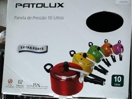 panela de pressão  patolux 10 litros com 2 válvulas.
