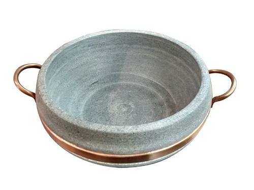 panela para peixada 8 litros alça de cobre