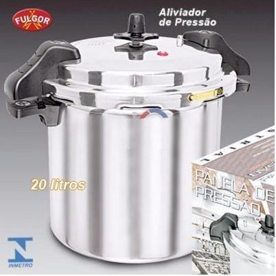 panela pressão industrial 20 litros alumínio fulgor com alça
