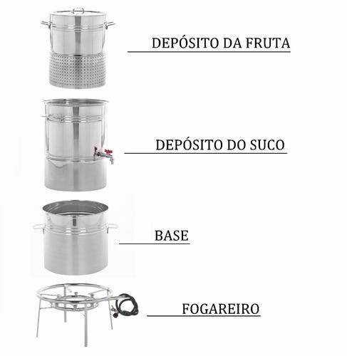 panela suqueira inox 18kg extrair fazer suco, frete grátis!
