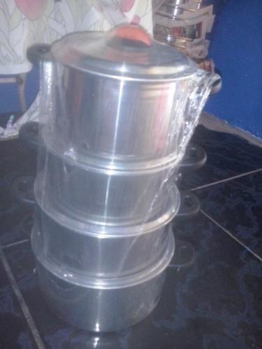 panelas de aluminio com 4peças direto da fbrica