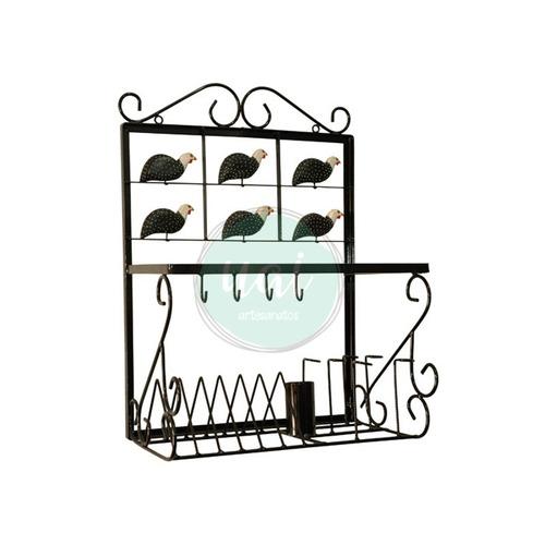 paneleiro em ferro artesanal escorredor louças 50cm oferta