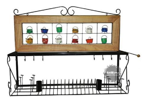 paneleiro rustico ferro e madeira escorredor cozinha fazenda