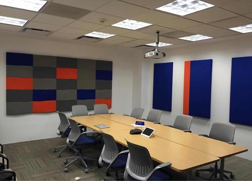 paneles acústicos deco textil para hogares estudios grabac