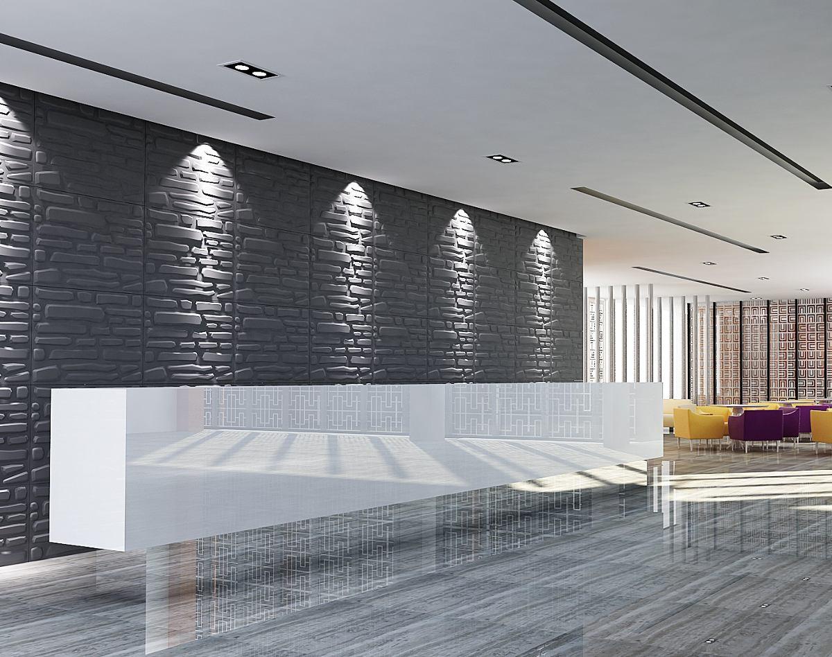 Paneles De Paredes 3d Wall Design Ref Brick 80cm X 62cm