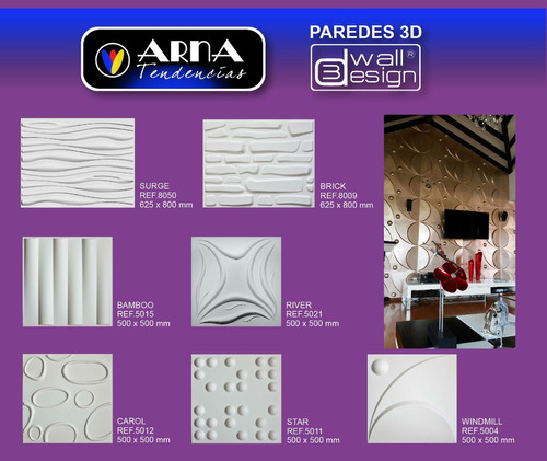 paneles de paredes 3d wall design ref brick 80cm x 62cm und
