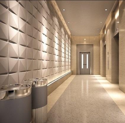 Paneles decorativos 3d modelo lotus revestimiento for Laminas vinilicas para paredes