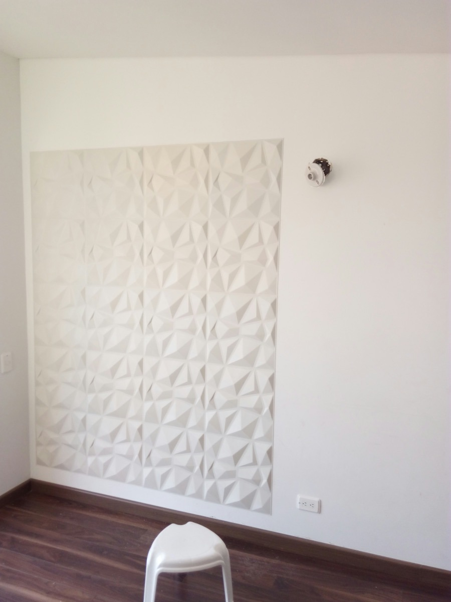 Paneles decorativos 3d para paredes diamante en plastico en mercado libre - Paneles decorativos para pared ...