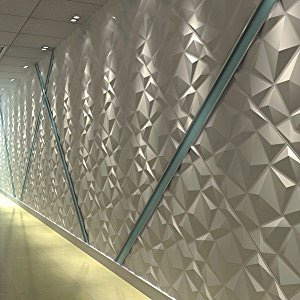 Paneles Decorativos 3d Para Paredes Diamante En Plastico 7000 - Paneles-para-pared