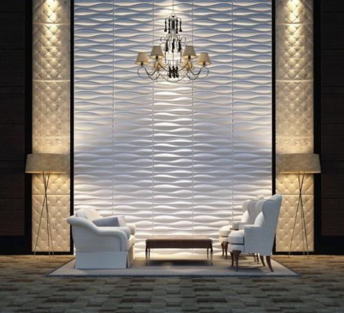 Paneles decorativos 3d para paredes goliat material - Paneles para revestir paredes ...