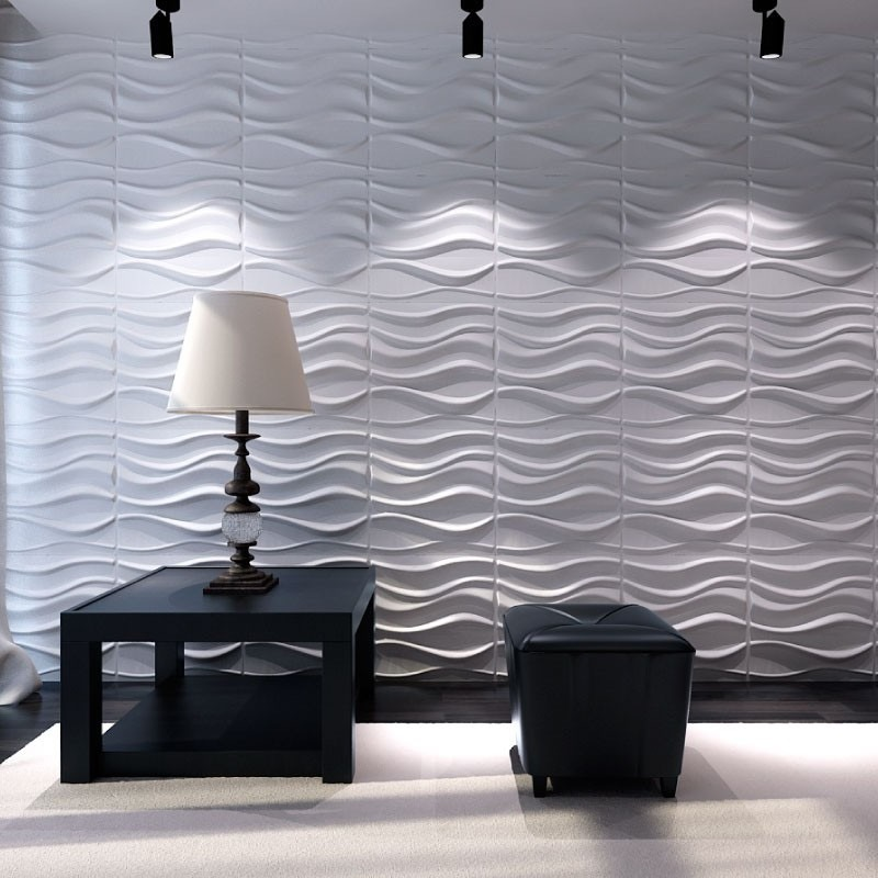 Paneles Decorativos 3d Para Paredes Ondas Material Plastico ...