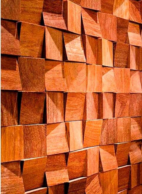 Paneles decorativos 3d revestimientos de madera paredes - Madera para paredes ...