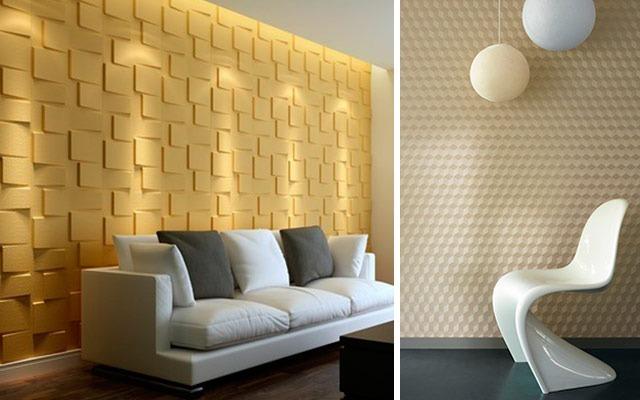 Paneles paredes decorativo 3d en yeso e instalacion bs for Papel decorativo pared