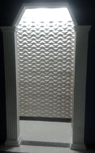 Paneles revestimientos 3d para paredes y techos en yeso for Modelos de techos de yeso