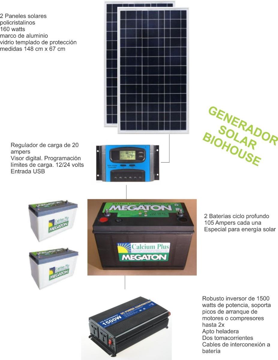 Kit Biohouse Con Paneles Solares Para Casa Rodante - $ 49.000,00 en ...