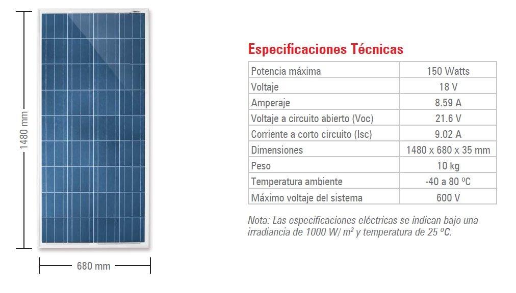 Paneles Solares De 150w 12v 165w 2 450 00 En Mercado Libre