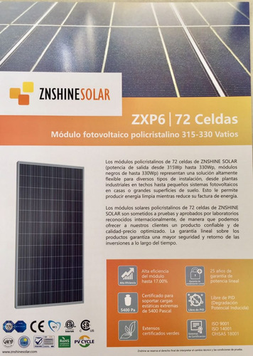 paneles solares  de 255w