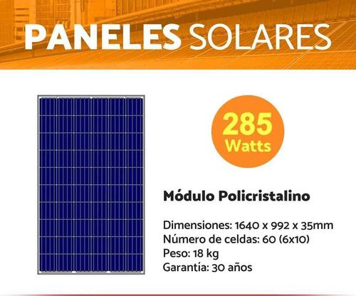 paneles solares de 285w