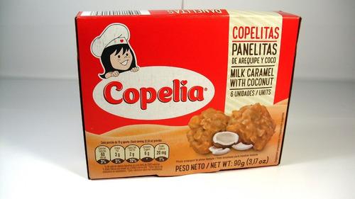 panelitas copelia x 6 und arequipe y coco dulces