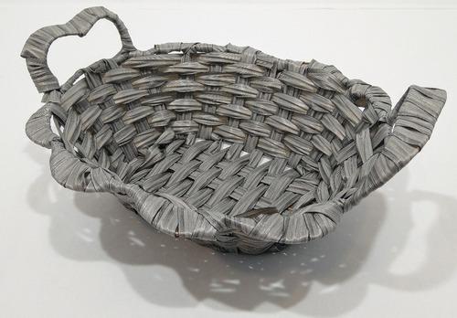 panera cesto organizador gris bazar pacho's