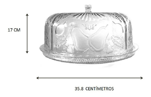 panera pastelera de plástico  tipo cristal decorada