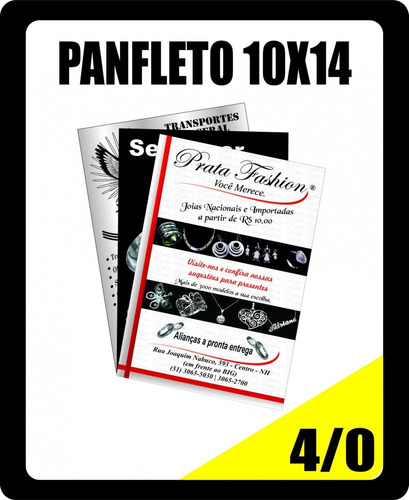 panfleto 10x14 4\0 (cor na frente, verso em branco)