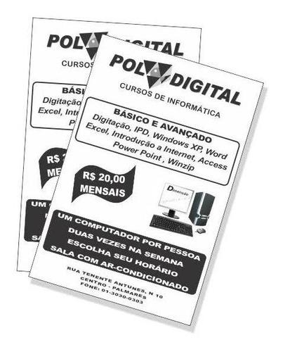 panfleto preto em branco
