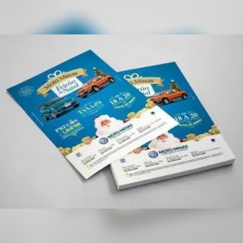 panfletos, flyers e folhetos/couche 90g sem verniz 100x140mm