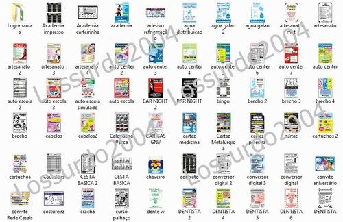 panfletos folhetos modelos editáveis corel draw envio grátis