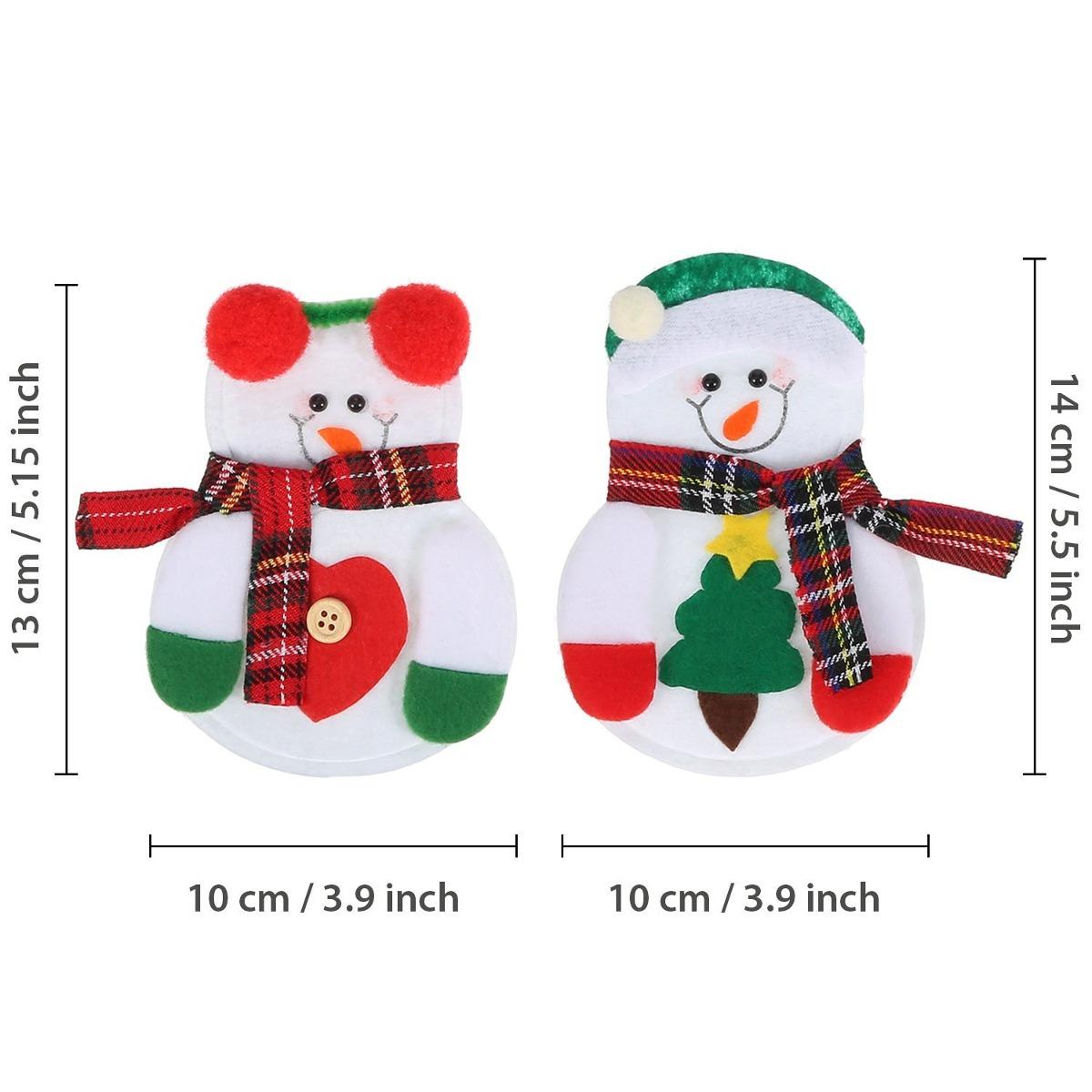 Pangda 12 Piezas Muñecos De Nieve De Navidad Cubiertos De Ho ...