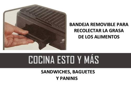 panini asador parrilla cocina sano sin grasa anti-adherente