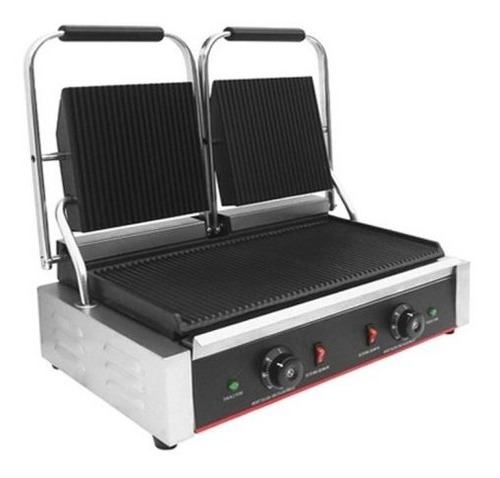 panini doble silcook tostador grill electrico 48x23cm heg813