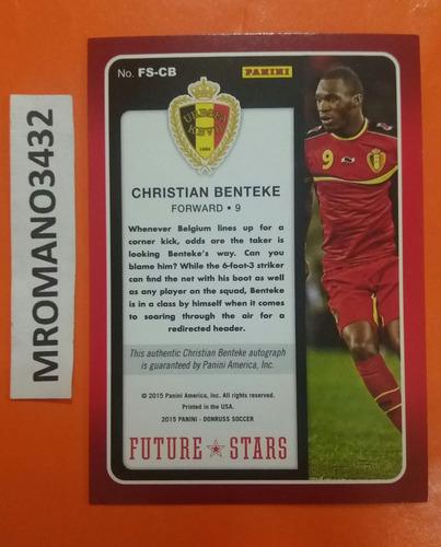 panini donruss soccer  autografo christian benteke belgica