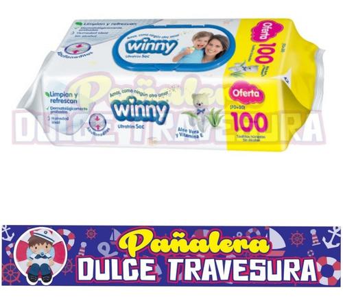 pañitos humedos winny x1200 - 12 pa - unidad a $82