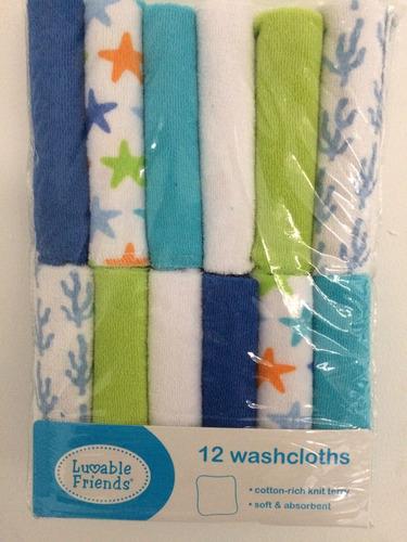 pañitos set de 12 unidades higiene del bebe