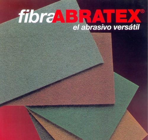paño abrasivo fibra abratex doble a marrón g220  x6 unidades