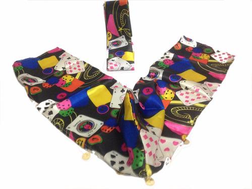 pano cabeça + lenço de cintura cigano cartas masculino