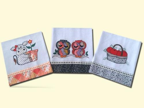 pano de prato patchwork - 20 unid 85,00-2 kits  frete gratis